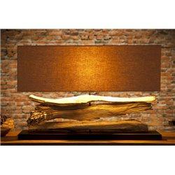 Nočná lampa Riverine z naplaveného dreva béžová