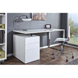 Písací stôl Compact 160 cm biely