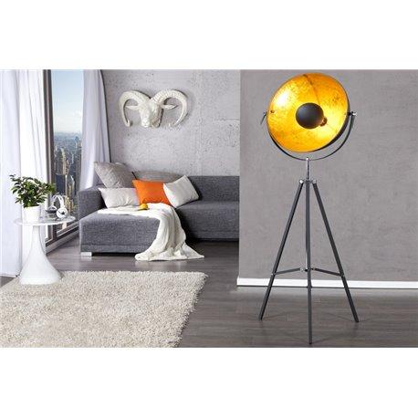 Stojanová Lampa Studio 160 cm čierna zlatá