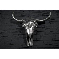 Dekoratívna lebka Matador strieborná