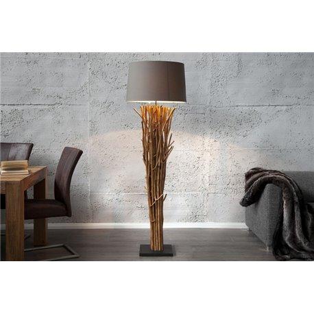 Stojanová Lampa Sirocco175 cm hnedá