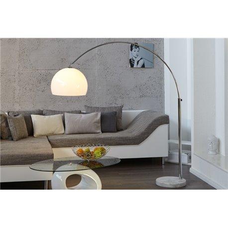 Stojanová Lampa Big Bow II weiss 175-205 cm