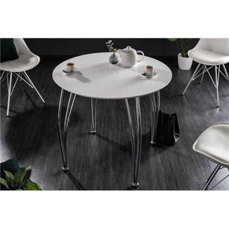 Okrúhly jedálensky stôl Circle 76x90 biely