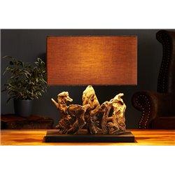 Nočná lampa Aragon 50cm hnedá