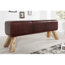 Lavica Bock 120cm koža