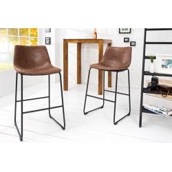 Barová stolička Clares vintage hnedá (2ks)