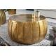 Konferenčný stolík Marrakesh 65cm hliník zlatá
