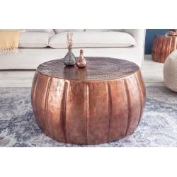 Konferenčný stolík Marrakesh 65cm hliník medený