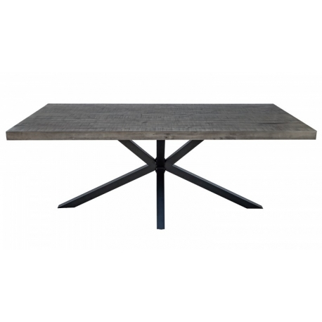 Jedálenský stôl Galaxia 200cm borovica 60mm sivá