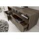 Masívny TV stolík Quinta 150cm borovica sivý