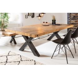 Jedálenský stôl Saurus 240cm borovica 80mm prírodná