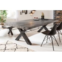 Jedálenský stôl Saurus 200cm borovica 80mm šedá
