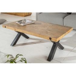 Konferenčný stolík Saurus 120cm borovica 50mm prírodná