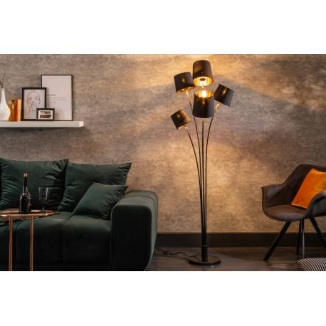 Stojanová lampa Niveau 178cm čierna zlatá