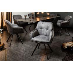 Luxusná otočná stolička Mezzo antracit