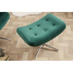 Dizajnová podnožka Mezzo smaragdovozelená zamat