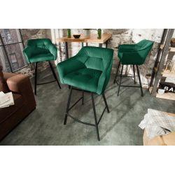 Barová stolička Studio 100cm zelená zamat