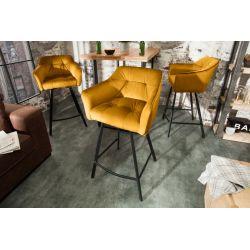 Barová stolička Studio 100cm horčicová zamat