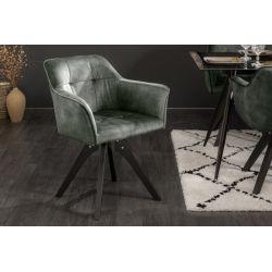 Otočná stolička Studio zelená zamat