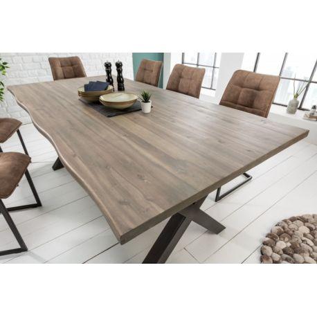 Masívny jedálenský stôl Berlin 160cm sivá 35mm akácia