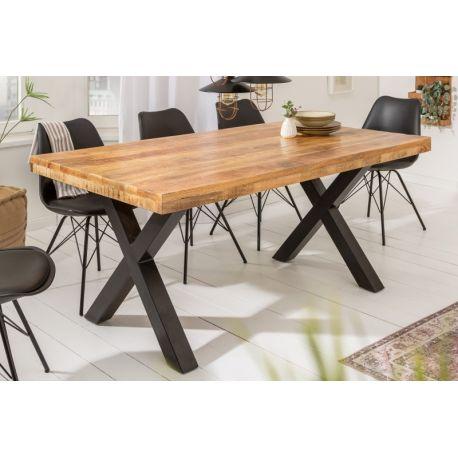 Masívny jedálenský stôl Tango 160cm prírodná 70mm mango industriálny štýl