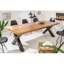 Masívny jedálenský stôl pre 8 a viac osôb Tango X II 240cm prírodná 70mm mango