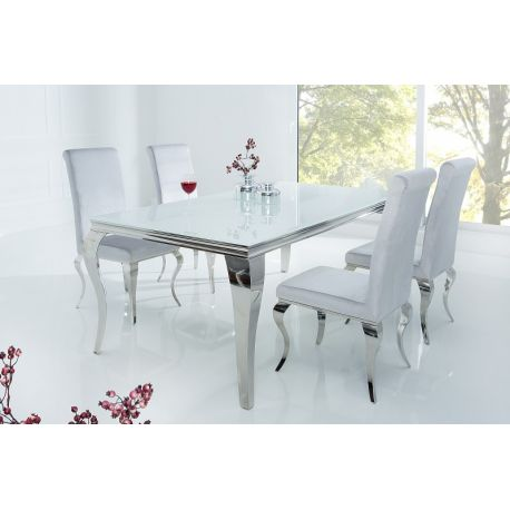 Exkluzívny jedálenský stôl Gilt 180cm strieborná