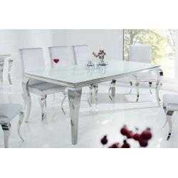 Exkluzívny jedálenský stôl Gilt 200cm biela strieborná