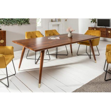 Masívny jedálenský stôl Miracle 160cm prírodná 45mm akácia retro štýl