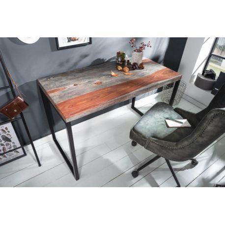 Pracovný stôl Fusion 118 cm masívny sheesham dymový