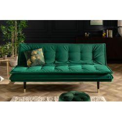 Rozkladacia pohovka na spanie Magnifique 184 cm smaragdovozelená zamat