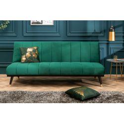 Rozkladacia pohovka na spanie Little Beauty smaragdovozelená zamat