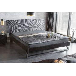 Luxusná posteľ Gobi 180x200 cm masív čierna