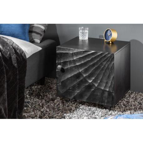 Nočný stolík Gobi 50 cm mango čierny