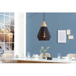 Sada dizajnových lustrov Malmo čierna masív (2ks)