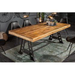 Industriálny jedálenský stôl pre 6 a viac osôb Special 240 cm mango 90mm