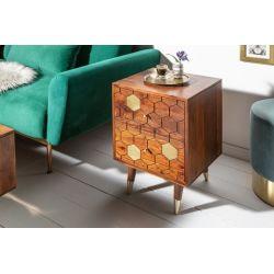 Nočný stolík Miracle 40 cm zlatá akácia
