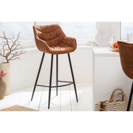 Luxusná barová stolička starohnedá