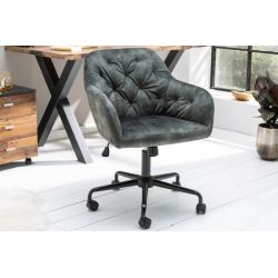 Kancelárska stolička Ayax zelenošedý zamat