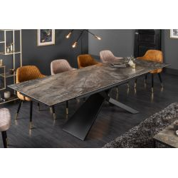 Luxusný rozkladací jedálenský stôl Sirocco 180-220-260 cm keramika mramor