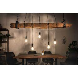 Ekologické závesné svietidlo Verso 152 cm recyklované drevo