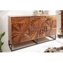 Masívna komoda - príborník Timber Art 160 cm mango