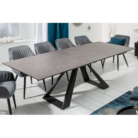 Rozťahovací jedálenský stôl Concord 180-230cm keramický antracit