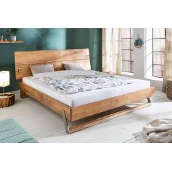 Masívna manželská posteľ s čelom Action 180x200 cm akácia prírodná