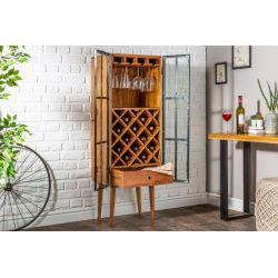 Drevený regál na víno Flax 145 cm akácia