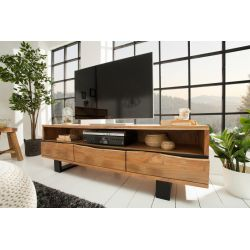 TV stolík na nožičkách Action 160 cm masív akácia prírodná