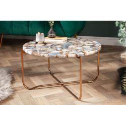 Konferenčný stolík Marquis 62 cm achát modrý zlatý
