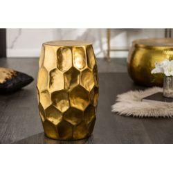 Okrúhly bočný stolík Byzant 30 cm hliník zlatý