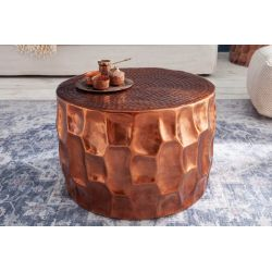 Okrúhly konferenčný stolík Byzant 53 cm hliník medený