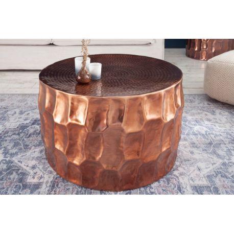 Okrúhly konferenčný stolík Byzant 68 cm hliník medený
